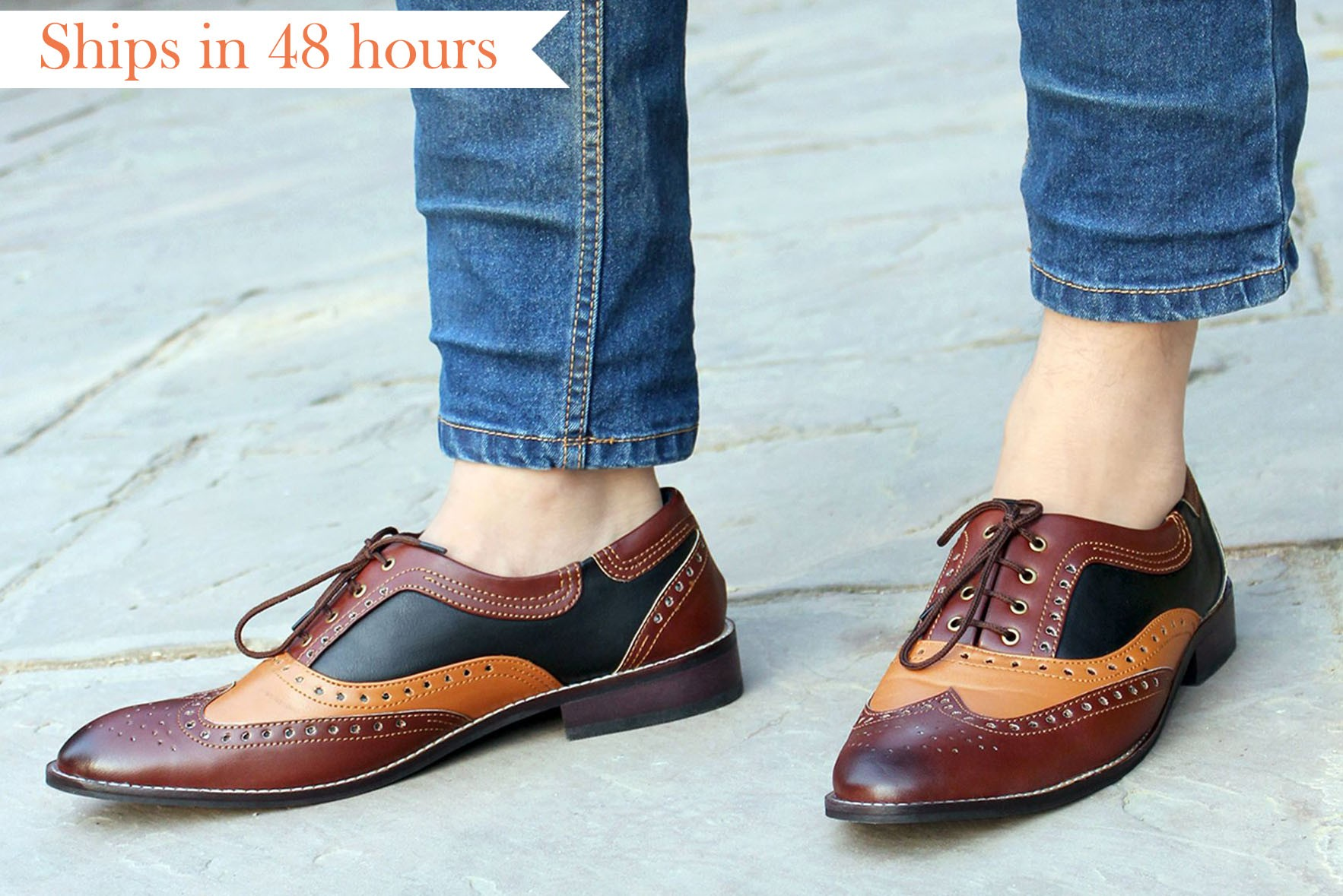 Contrast Away formal shoes