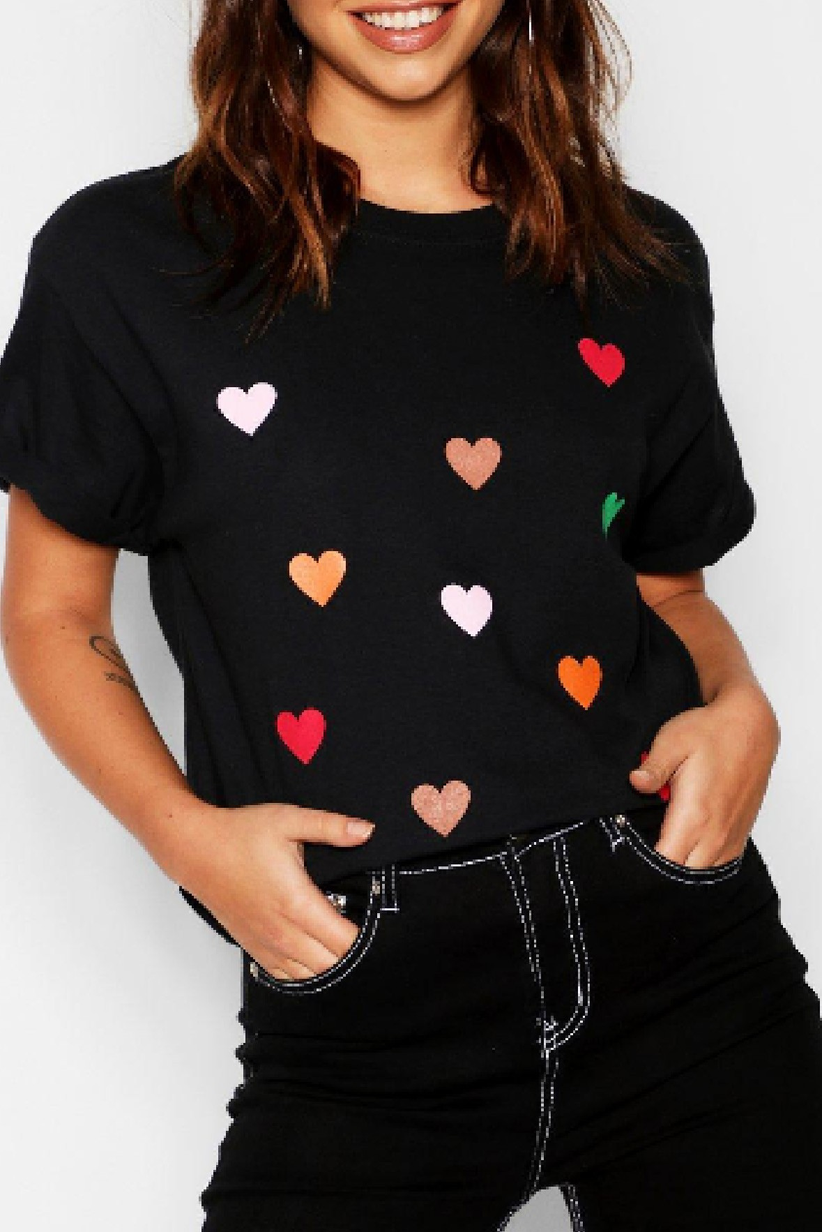 All Over Heart Print Tee