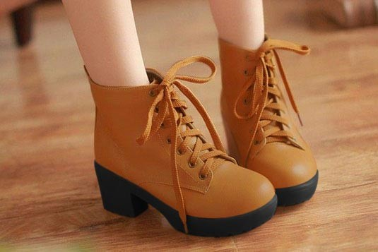 Perfect Laces Boots brown (Sole Black)