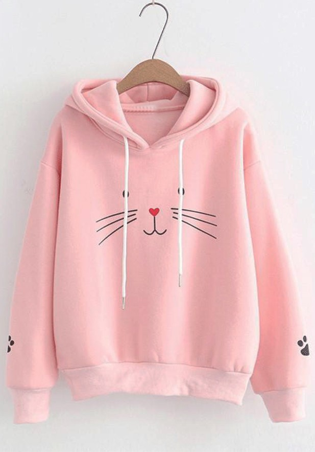 Meaw Printed Long Sleeve Sweatshirt