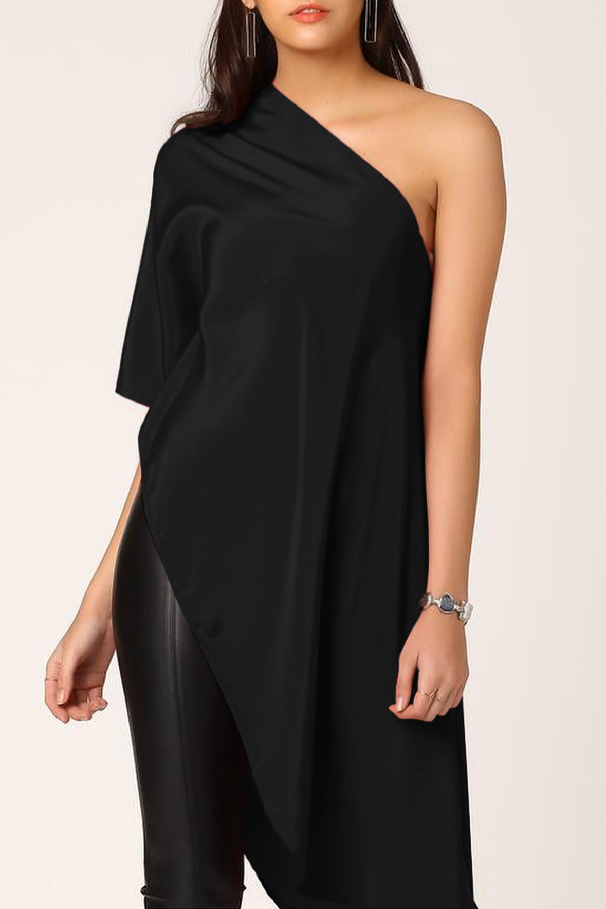 Inner glow one shoulder tunic