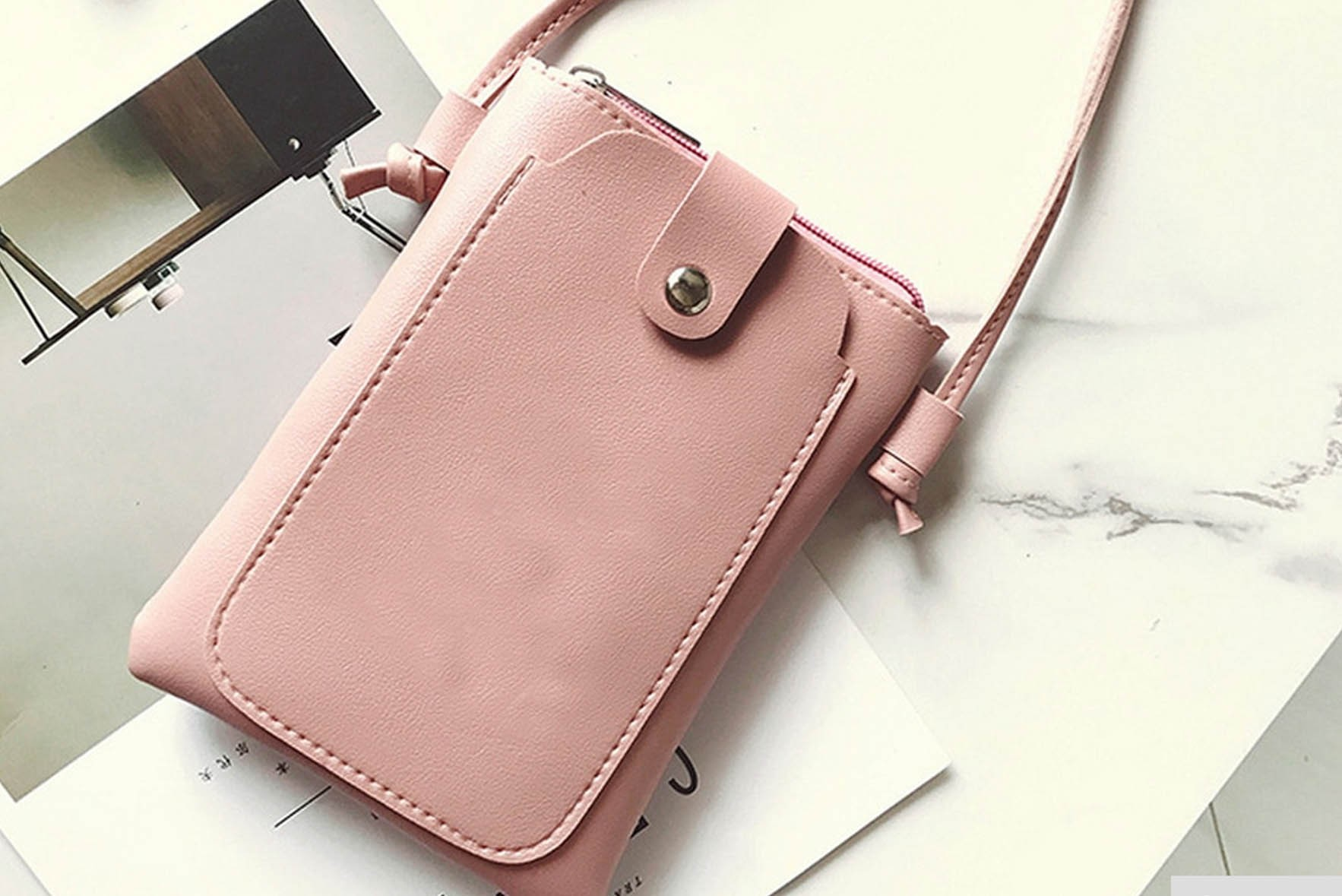 Ease my walk pouch with sling Pink