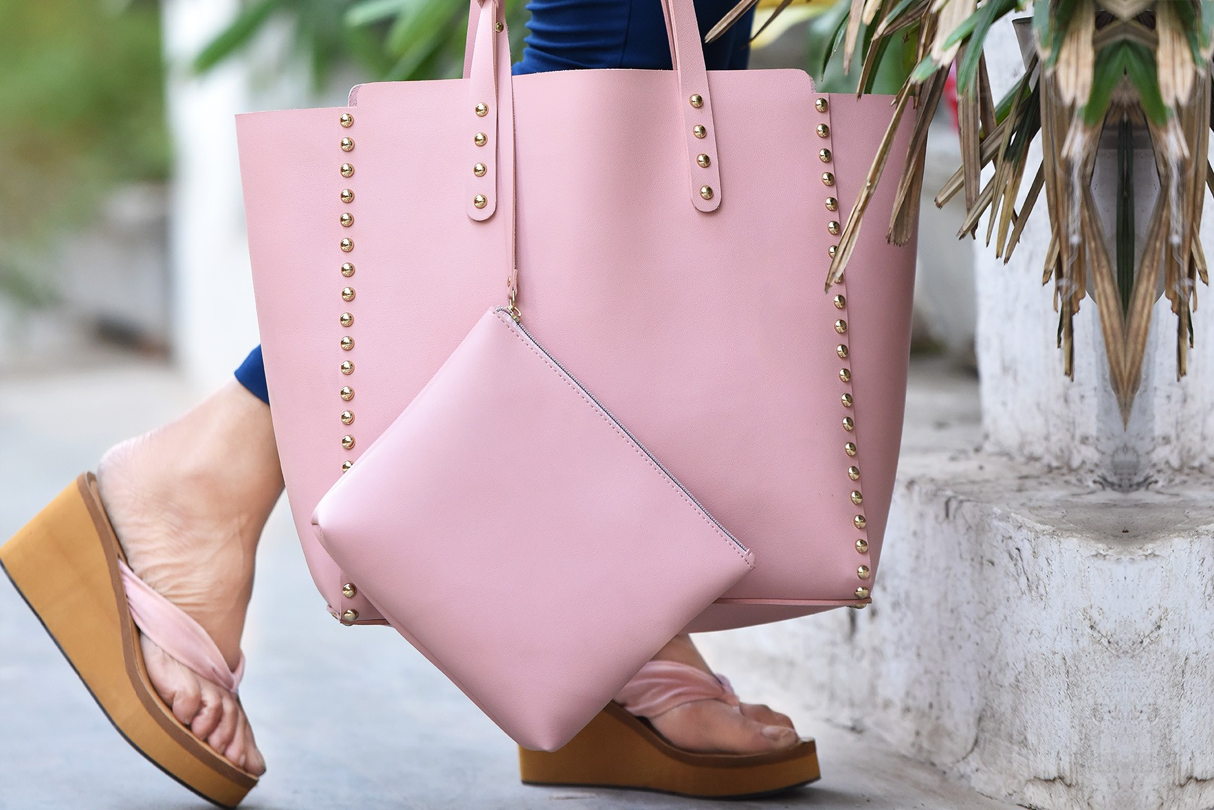 Set - Elegant carry all bags Pink