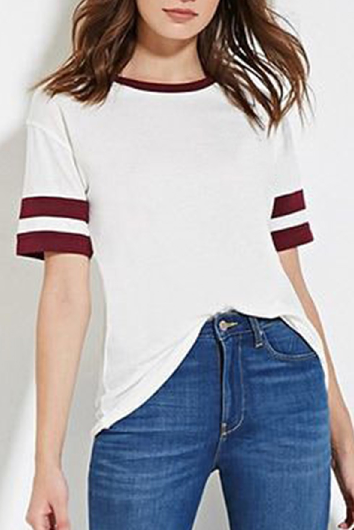 Stripes sleeves t-shirt