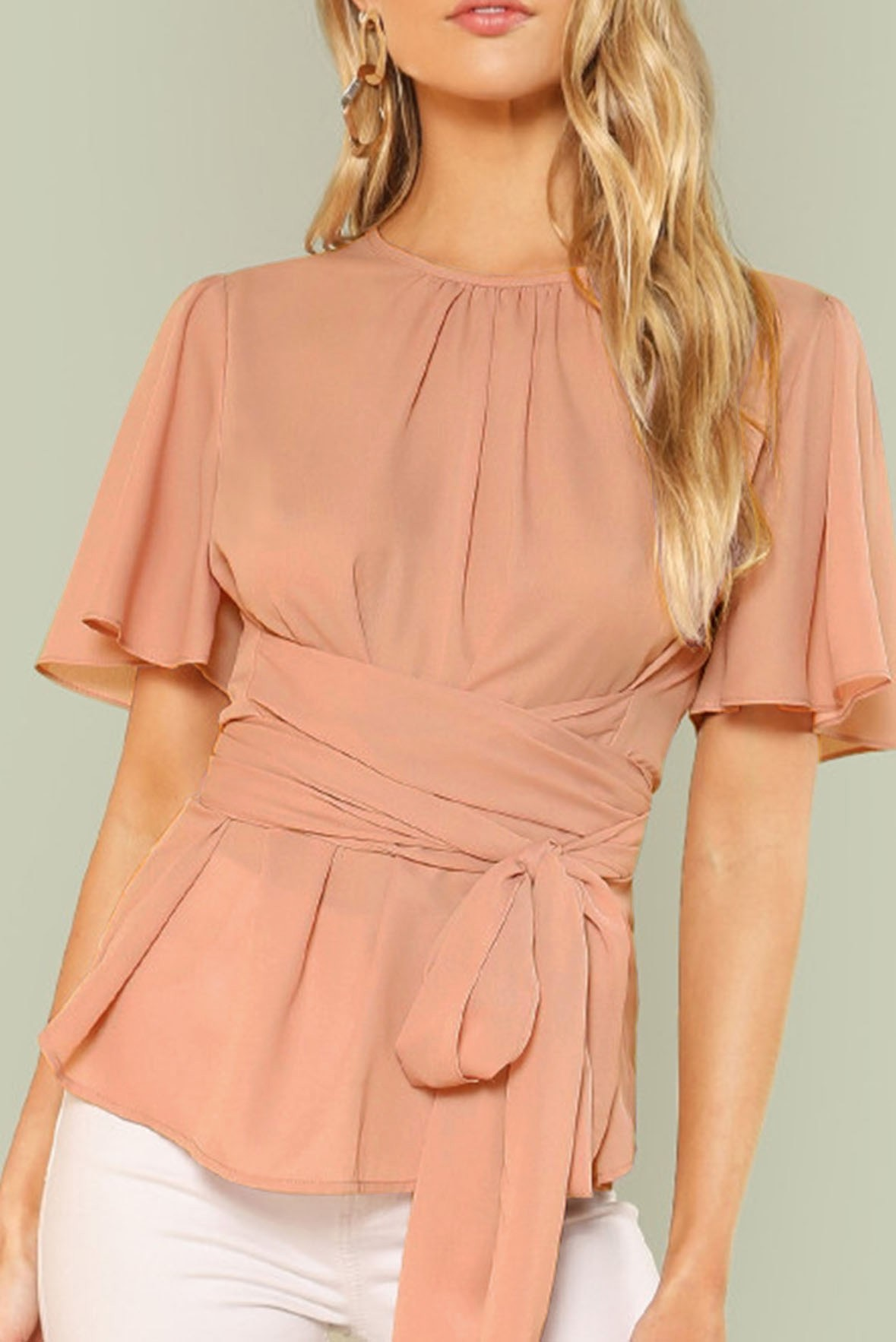 Front Self Belted Top