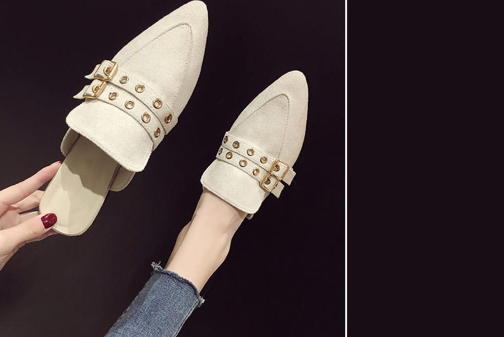 Love we think flats White