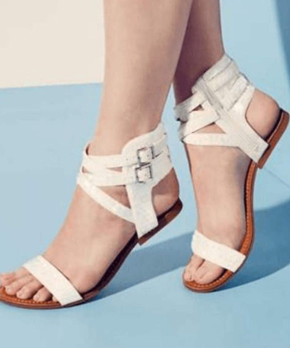 Playing Strap Flats White