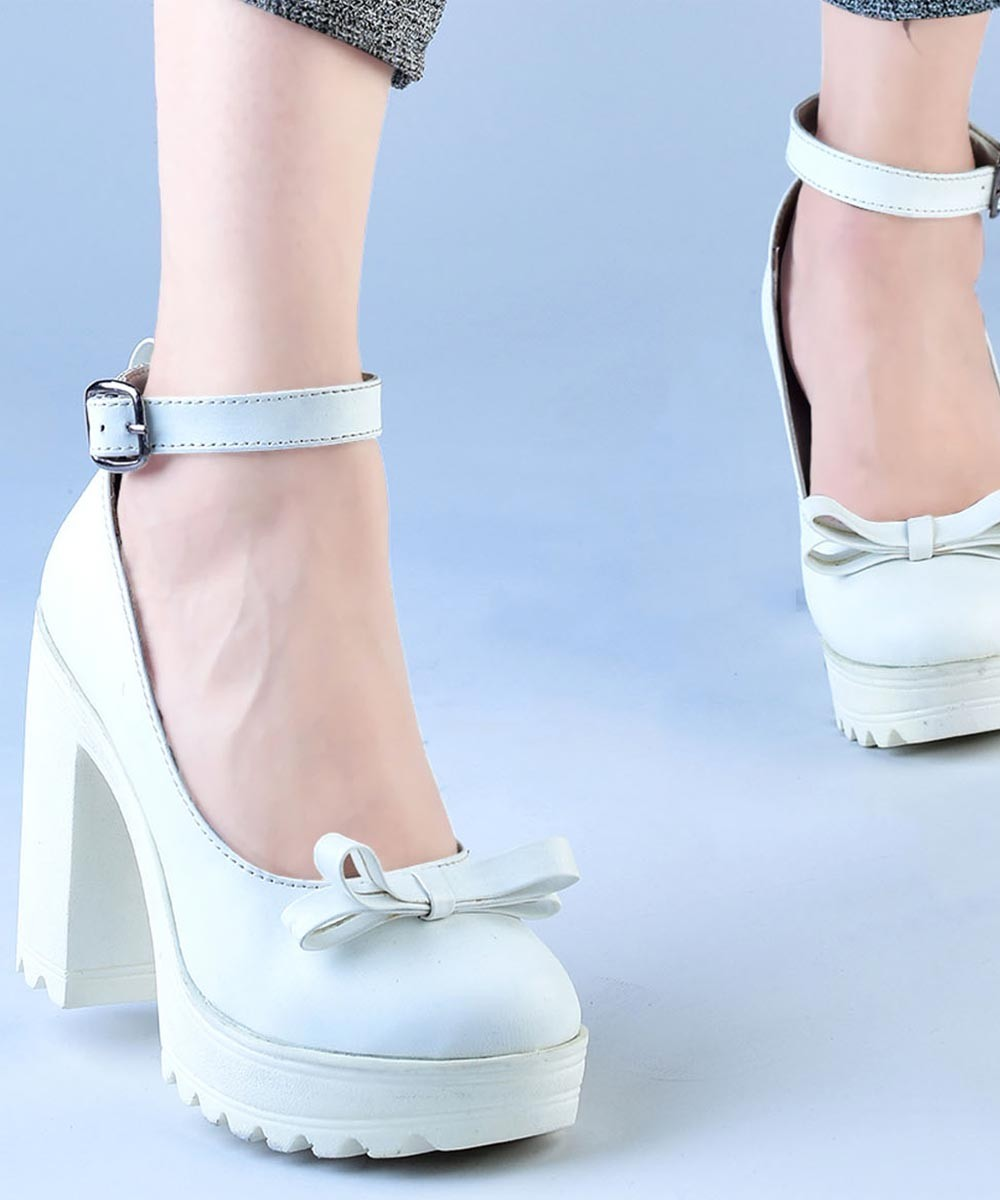 Your Closet Heels White