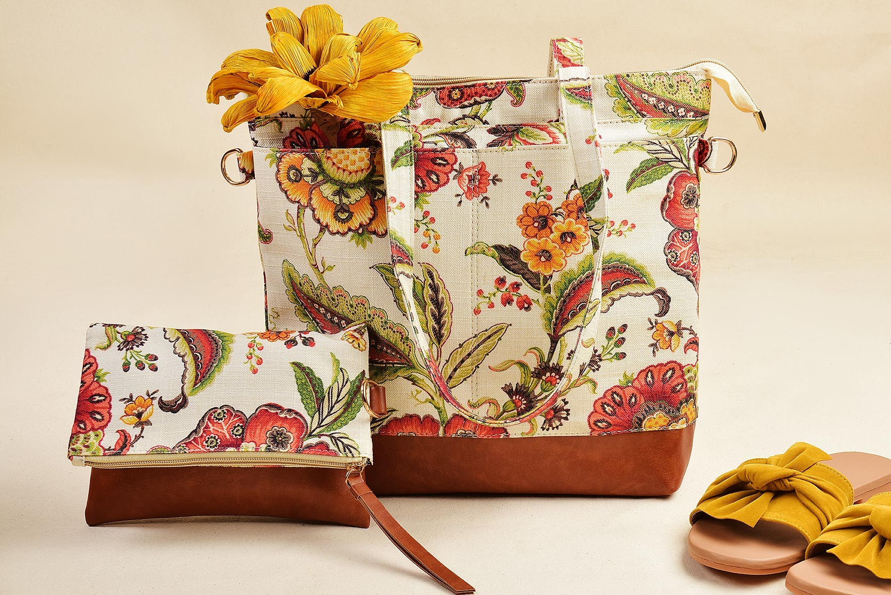Set of 2 -Most Chill Floral Bags