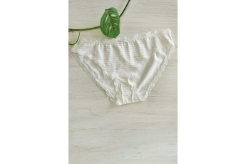 Stripe Lace Panty White