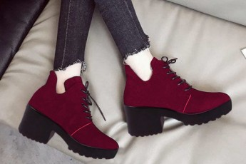 Graceful Boots Marsala