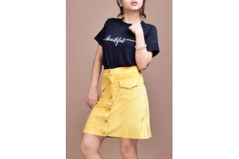 Set- Beautiful top with velvet skirt