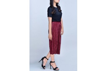 Set- Black top with Marsala trouser