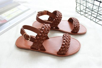 Time travel flats brown