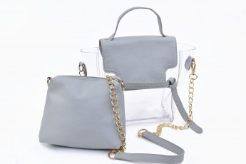 Set of 2 - High tied Bags Grey